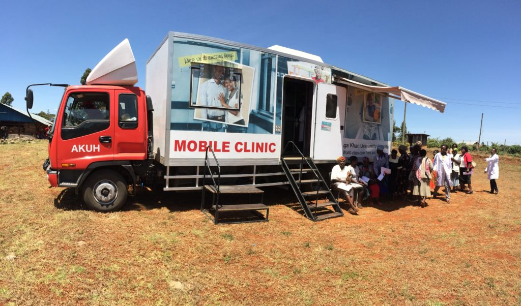 Aga Khan University Hospital's mobile clinic.